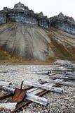 Mine de gypse dans Skansbukta Photo stock