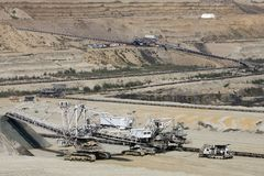 Mine de houille à ciel ouvert Photo libre de droits