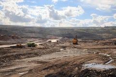 Mine de lignite Photo libre de droits