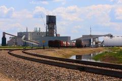 Mine de potasse sur les prairies canadiennes photographie stock