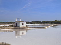Mine de sel de Formentera Photographie stock