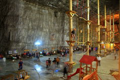 Mine de sel de Praid de la Transylvanie Image libre de droits