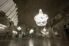 Mine de sel de Wieliczka Photo libre de droits