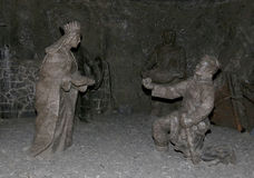 Mine de sel de Wieliczka Cracovie Image stock