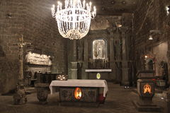 Mine de sel de Wieliczka en Pologne Images stock