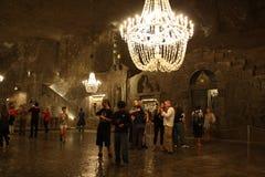 Mine de sel de Wieliczka (Pologne) Images libres de droits