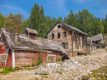 Kennicott Ghost Town. Ghost town Kennicott, Wrangell St. Elias National Park, Alaska, Usa. This abandoned copper mining camp is a National Historic Landmark stock photo