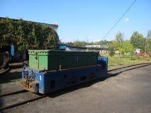 Mine electric locomotives. Coal mine in Ukraine, Lviv region Stock Photography