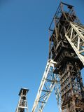 Mine elevator tower Royalty Free Stock Photography