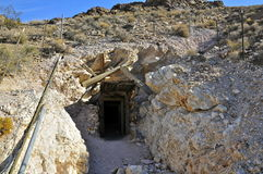 Mine entrance, Historic Rhyolite Ghost Town Royalty Free Stock Photo