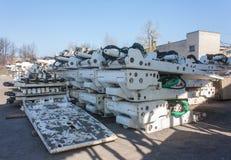 Mine equipment stockpiled Stock Photo