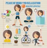 Mine et relaxation de paix Style de vie sain Images stock