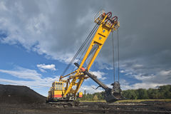 Mine excavator. At worksite. Canon 5d 16-35 mm Stock Images