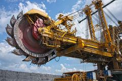 Mine excavator for brown coal Royalty Free Stock Images