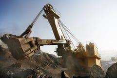 Mine excavator at work Royalty Free Stock Image