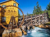 Mine feature at the Grizzly Peak River Run. ANAHEIM, CALIFORNIA - FEBRUARY 13: Mine feature at the Grizzly Peak River Run at Disney California Adventure Park on Royalty Free Stock Image