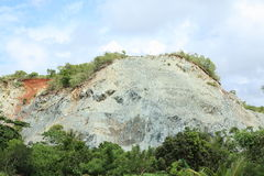 Mine. Hill with mine neer by Sorong (Papua Barat, Indonesia Stock Images