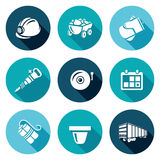 Mine Icons Set. Vector Illustration Royalty Free Stock Images