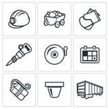 Mine icons. Vector Illustration. Royalty Free Stock Photos
