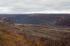 Mine of iron ore stock image