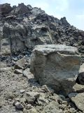 Mine. Lime stone mine of quarry the best stock image