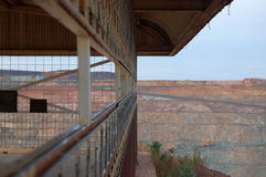 Mine lookout. Super Pit mine public lookout Stock Photos