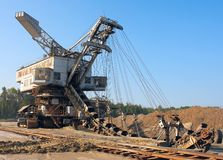 Mining machine royalty free stock images