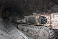 Mine machines in underground mines Royalty Free Stock Image