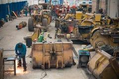 Mine maintenance workshop Royalty Free Stock Image