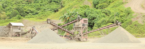 Mine. And mining technic near by Sorong (Papua Barat, Indonesia royalty free stock image
