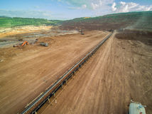 Mine Pits. Aerial View ; Coal Mine Stock Images