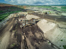 Mine Pits Aerial View. Process & Transportation Stock Image