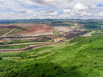 Mine Pits ; Aerial View. In Thailand Royalty Free Stock Photography