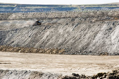 Mine reclamation. Surface mine reclanation at Eagle Butte coal mine in Wyoming Stock Photos