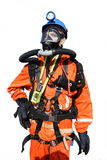 Mine rescue figurine. Mine rescue equipment on figurine Royalty Free Stock Images