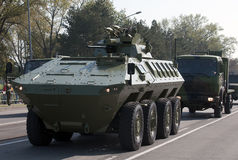 Mine Resistant Ambush Protecte vehicle Lazar Stock Image