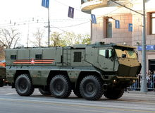 Mine-Resistant Ambush Protected (MRAP) armored vehicles Typhoon-K. Royalty Free Stock Images