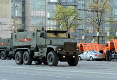 Mine-Resistant Ambush Protected (MRAP) armored vehicles Typhoon-U. Stock Photography