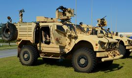 Mine-Resistant Ambush Protected (MRAP) Vehicle Royalty Free Stock Photography