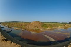 Mining river Royalty Free Stock Photography