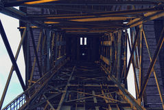 Mine shaft. Coal mine shaft. Katowice. Poland royalty free stock photos