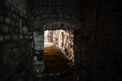 Mine Shaft with diminishing perspective Stock Photo