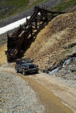 Mine Shaft and Jeep Stock Photography