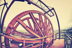 Mine shaft pulley wheel. Stock Photography