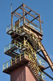 Mine shaft steel construction Royalty Free Stock Photography