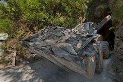 A mine of slate near Genoa, tipical ligurian stone Royalty Free Stock Photo