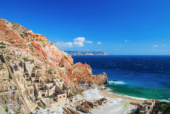 Mine Sulfur, Milos. Mine sulfur a Milos island, Greece Royalty Free Stock Image