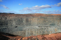 Mine superbe de mine de Kalgoorlie, Australie occidentale Photographie stock
