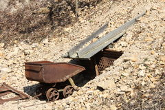 Mine. Transport trough in a mine called Hund Stock Images