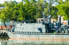 Mine trawler on parking Royalty Free Stock Photos